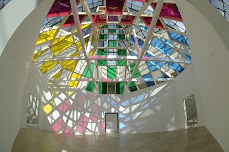 Architecture, contre-architecture : transposition, travail in situ, Daniel Buren